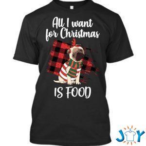 christms pug for dark t shirt