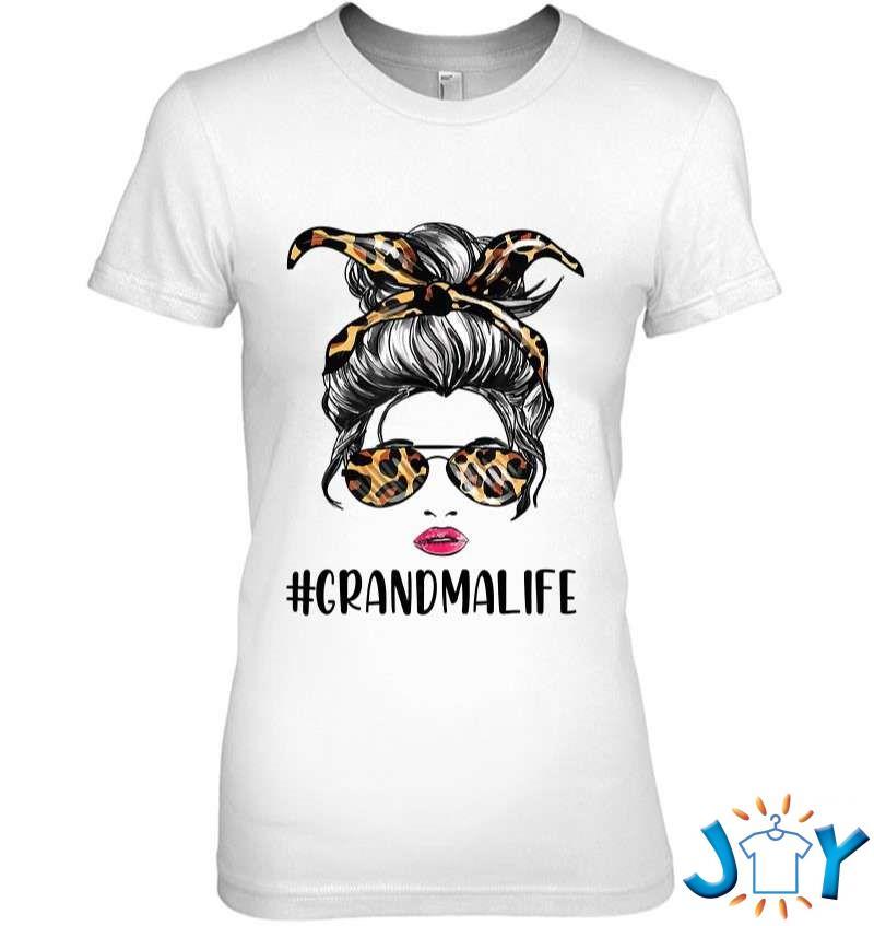Classy Grandma Life With Leopard Pattern Shades Grandmalife T-Shirt