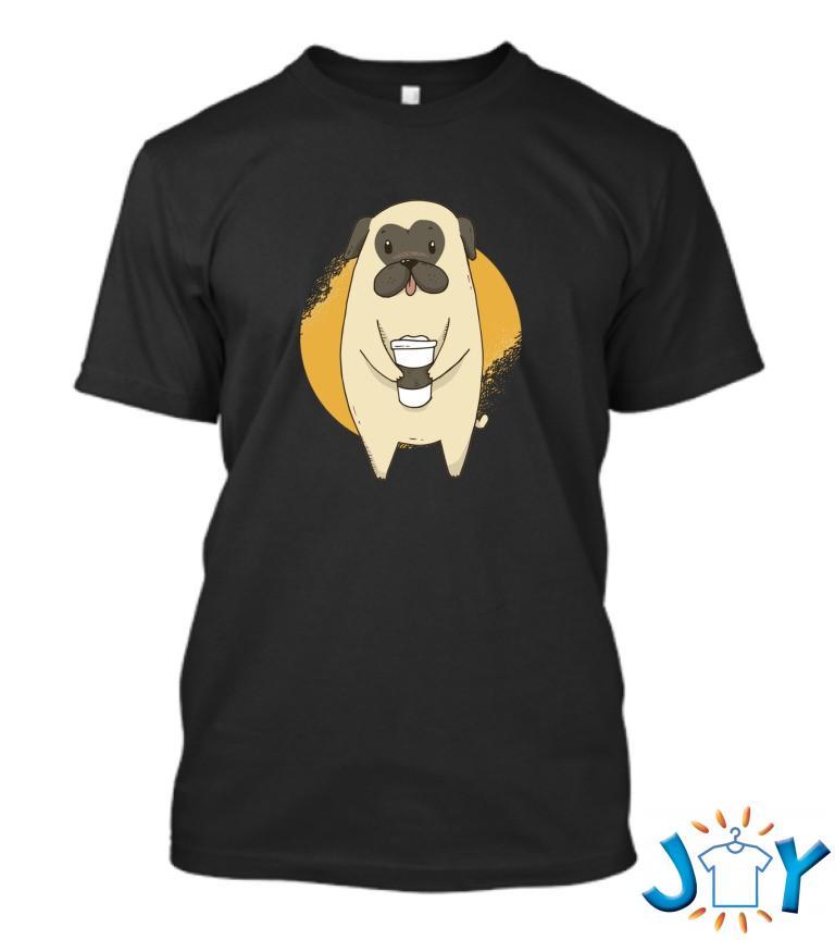 Coffee Pug T Shirt