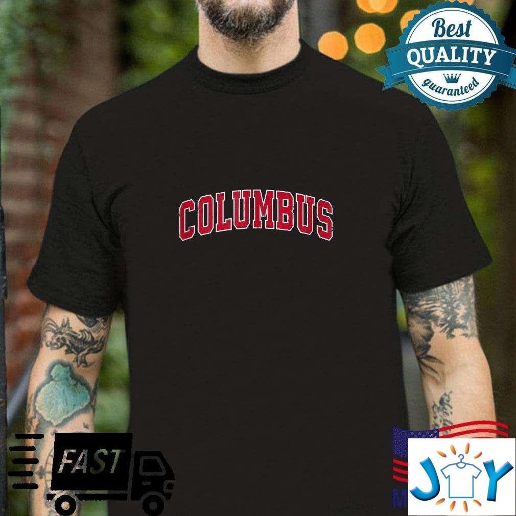 Columbus Nebraska Ne Vintage Sports Design Red Design Unisex T-Shirt