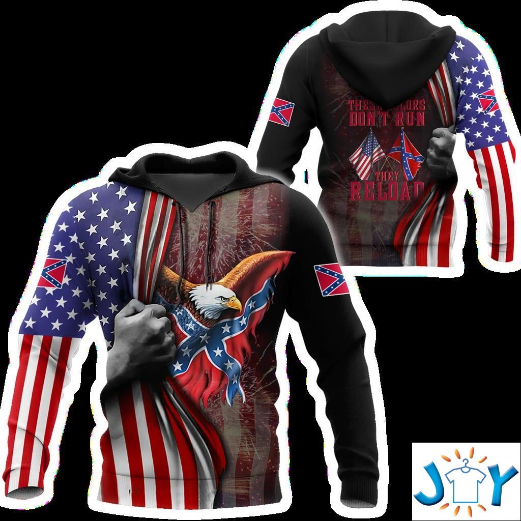 Confederate States Of America These Colors Don'T Run They Reload 3D Hoodie