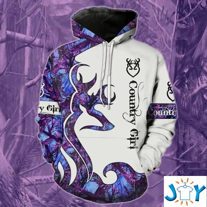 Country Girl Deer Hunting Camo 3D All Over Printed Hoodie
