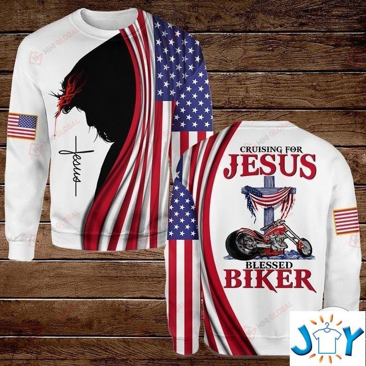 Cruising For Jesus Blessed Biker 3D Hoodies, Sweatshirt, Hawaiian Shirt