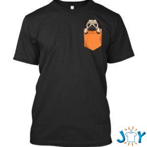 cute kawaii pug dog in pocket dogs lover anime q t shirt