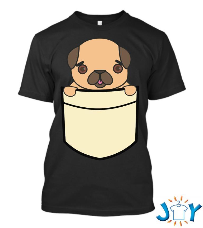 Cute Pocket Pug T Shirt