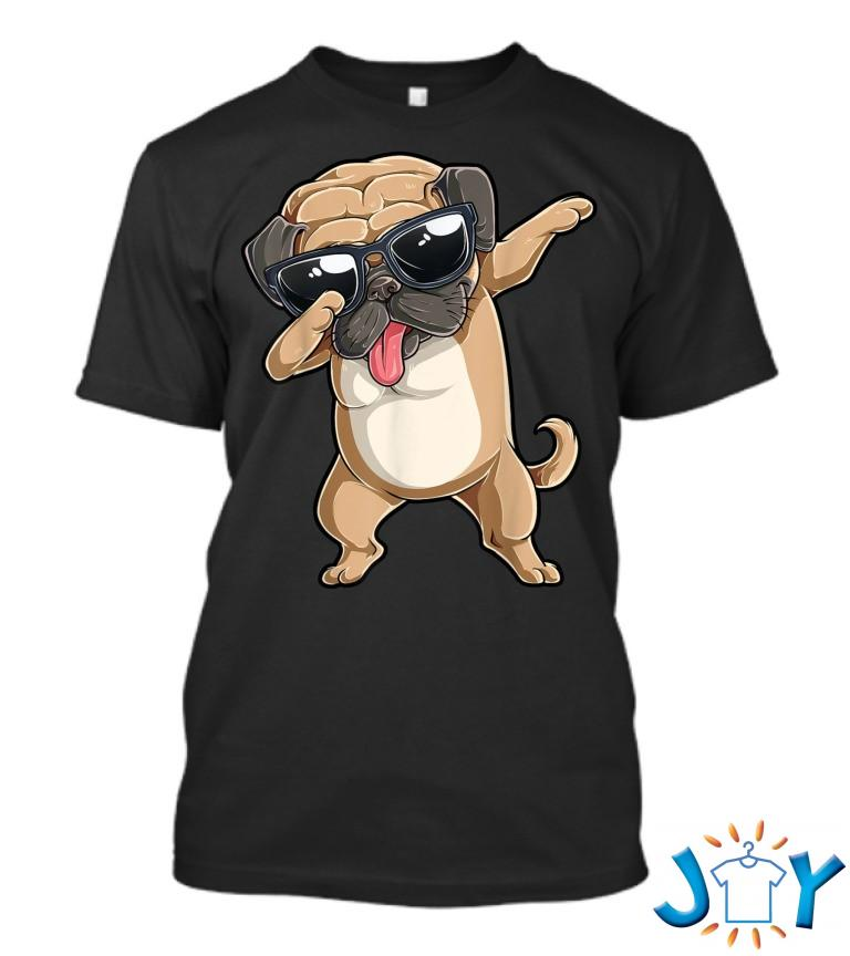 Dabbing Pug Dog Lover Kids Boys Girls Dab Dance T Shirt