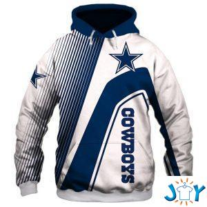 dallas cowboys stripes d hoodie