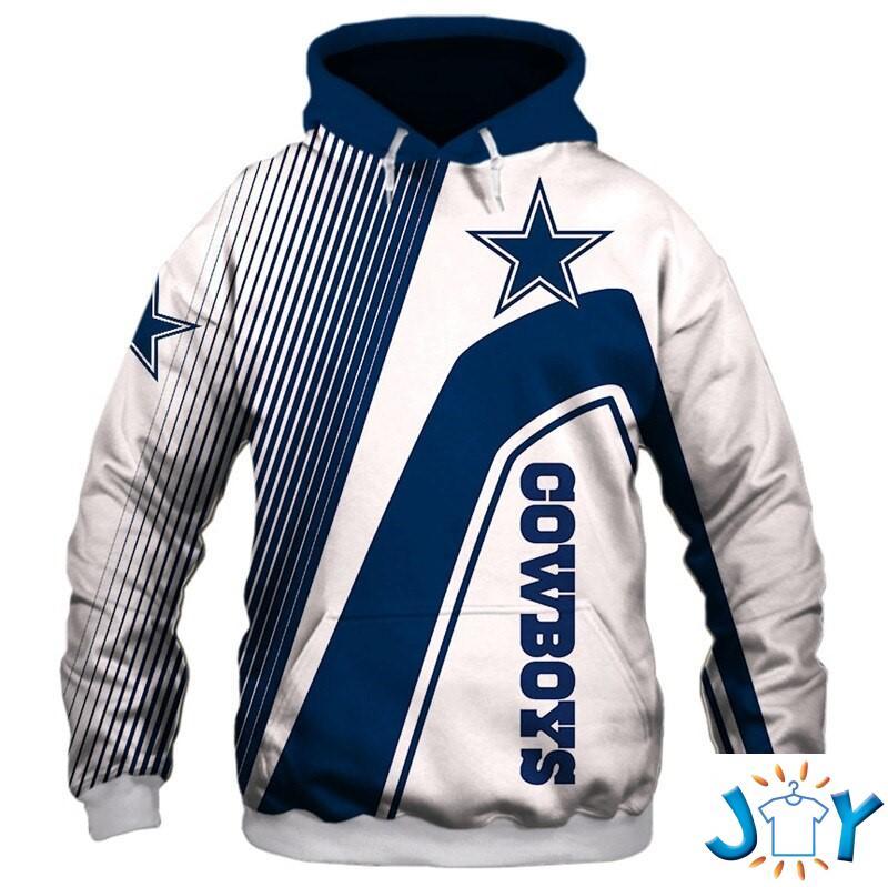 Dallas Cowboys Stripes 3D Hoodie