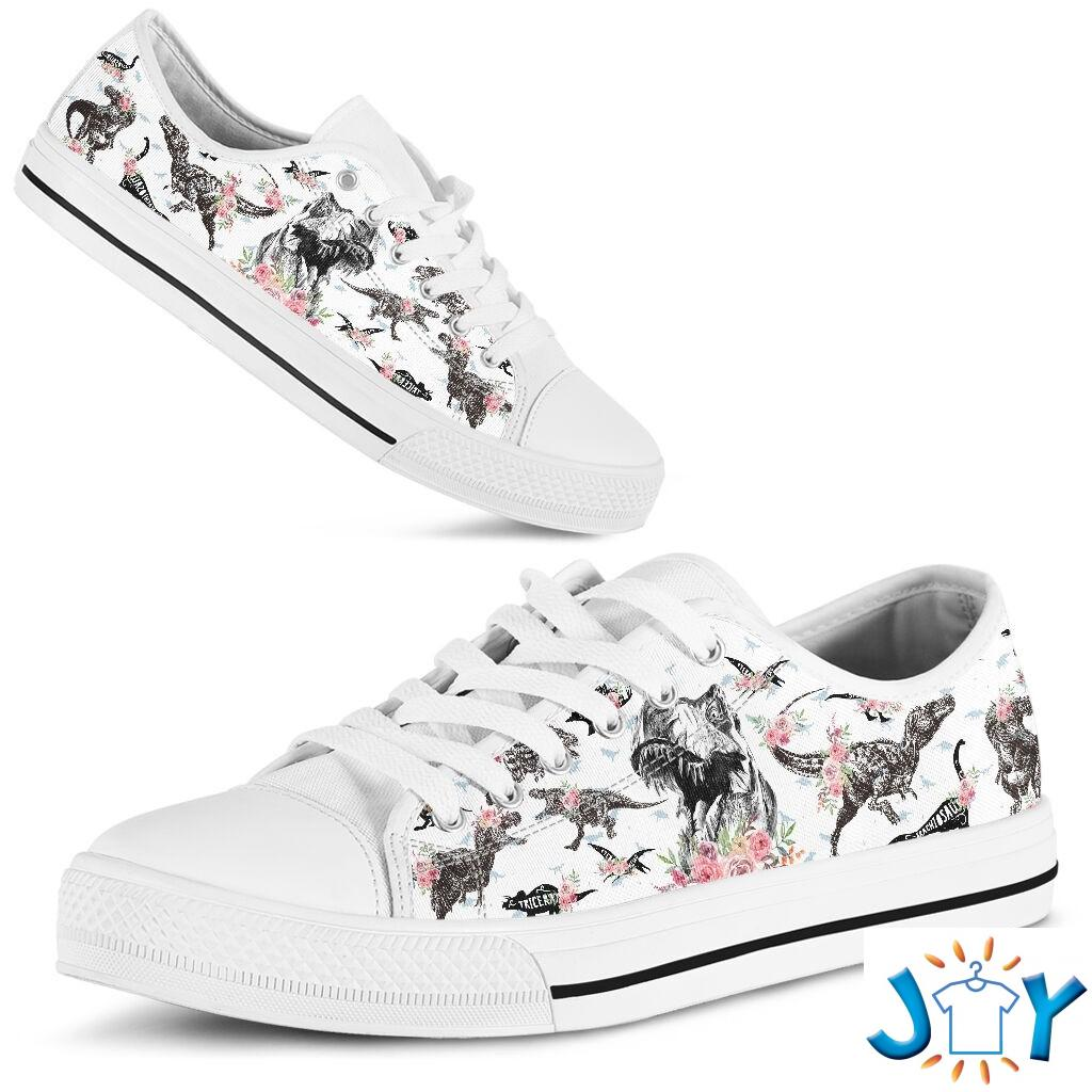 Dinosaurs Pattern Low Top Shoes