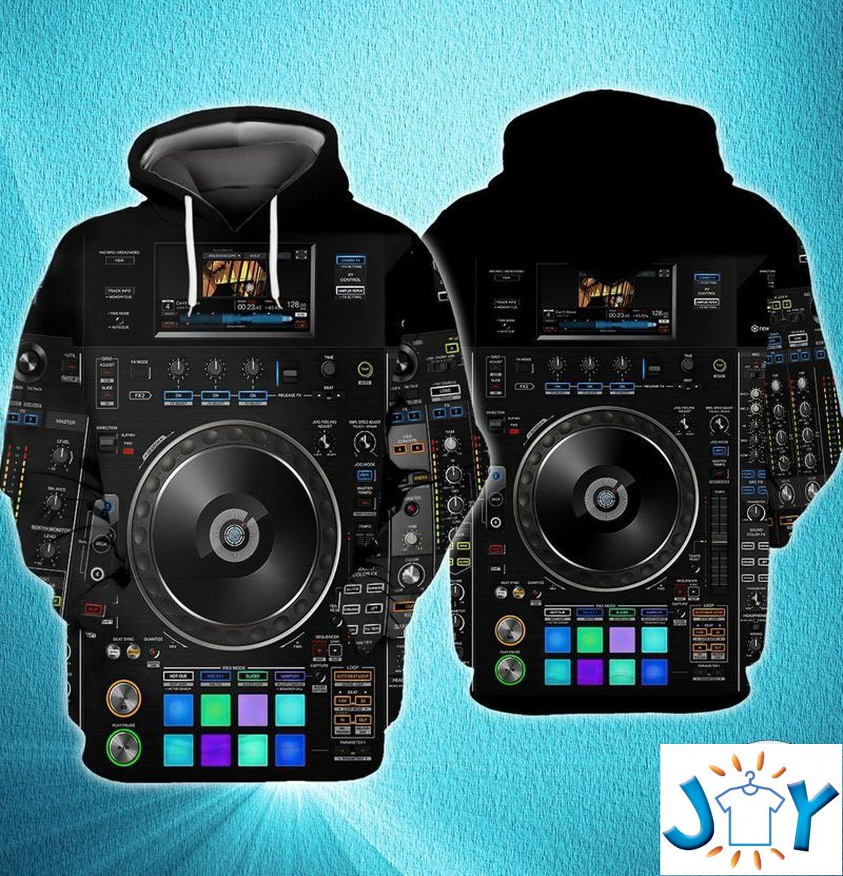Dj Music Studio 3D Hoodie