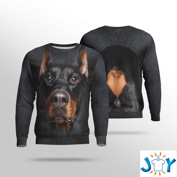 Doberman Pinscher 3D Sweatshirt