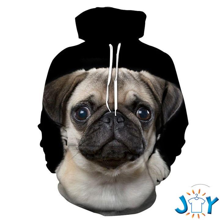 Dogs Pugs 3D All Over Print Hoodie