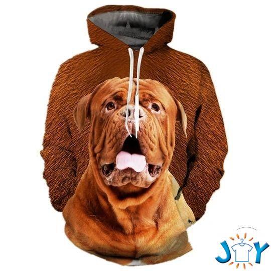 Dogue De Bordeaux 3D All Over Print Hoodie
