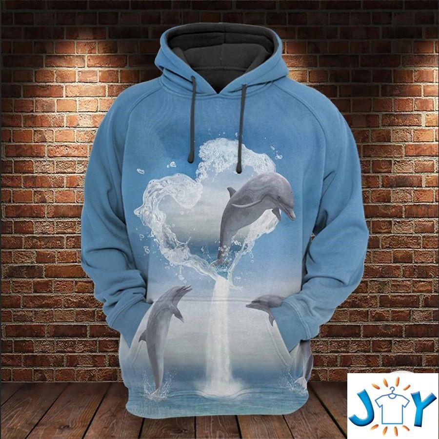 Dolphins Ocean 3D All Over Print Hoodie