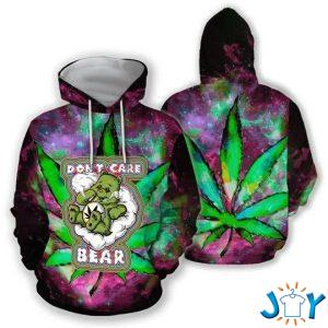 dont care bear weed d hoodie