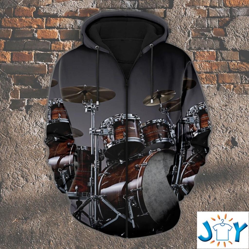 Drummer 3D Zip Up Hoodie