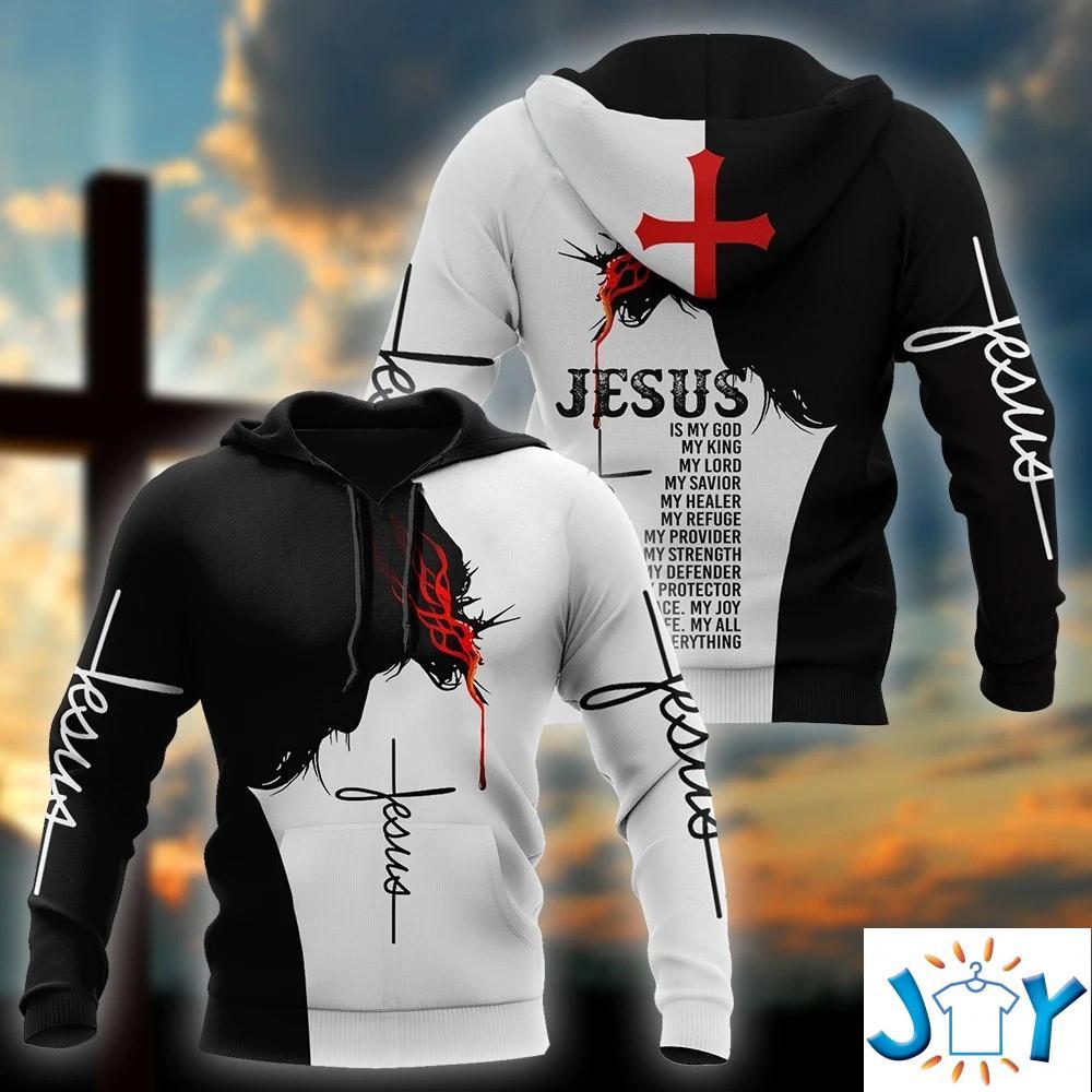 Easter Jesus Is My God My King My Lord 3D Hoodie