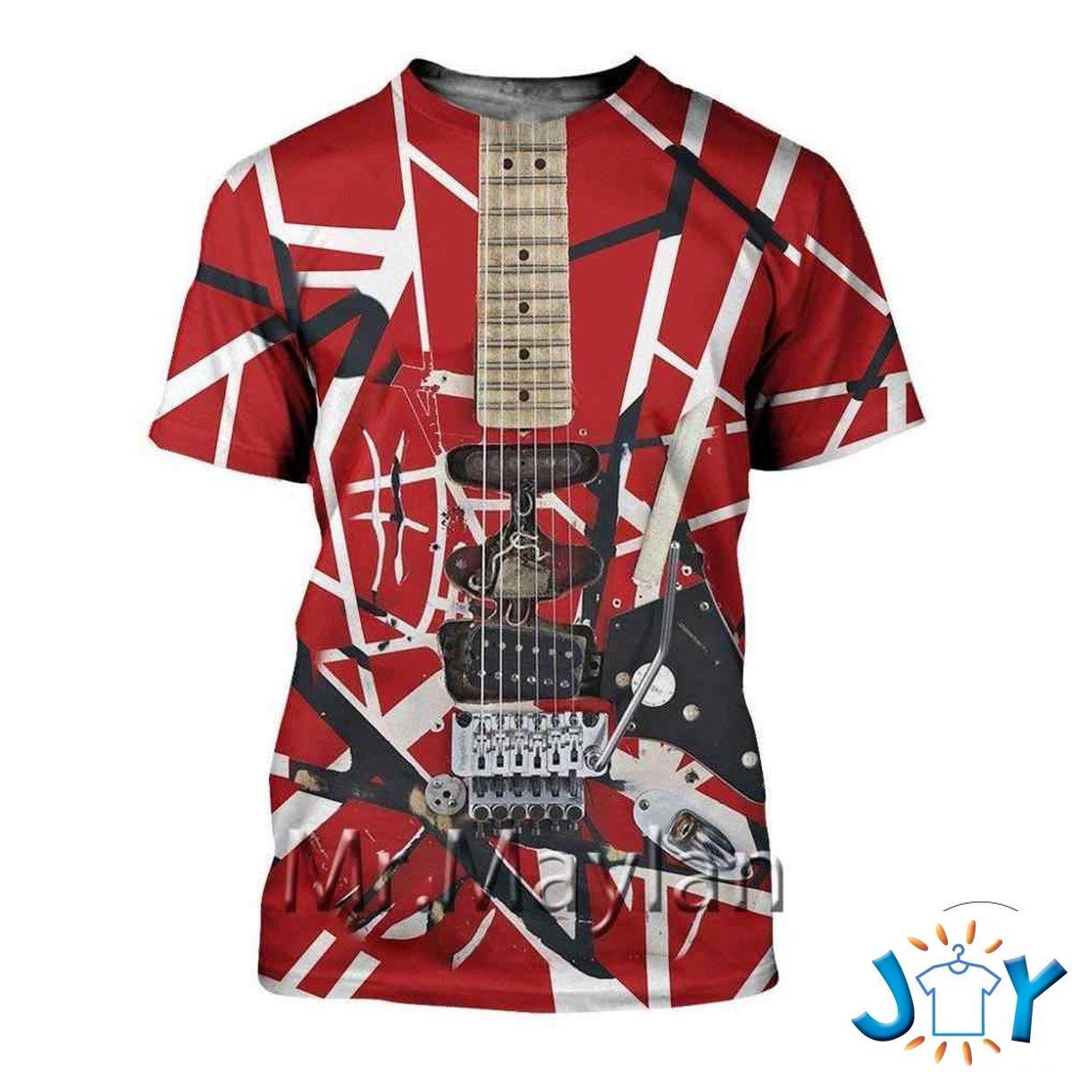Eddie Van Halen Guitar Pattern 3D T-Shirt