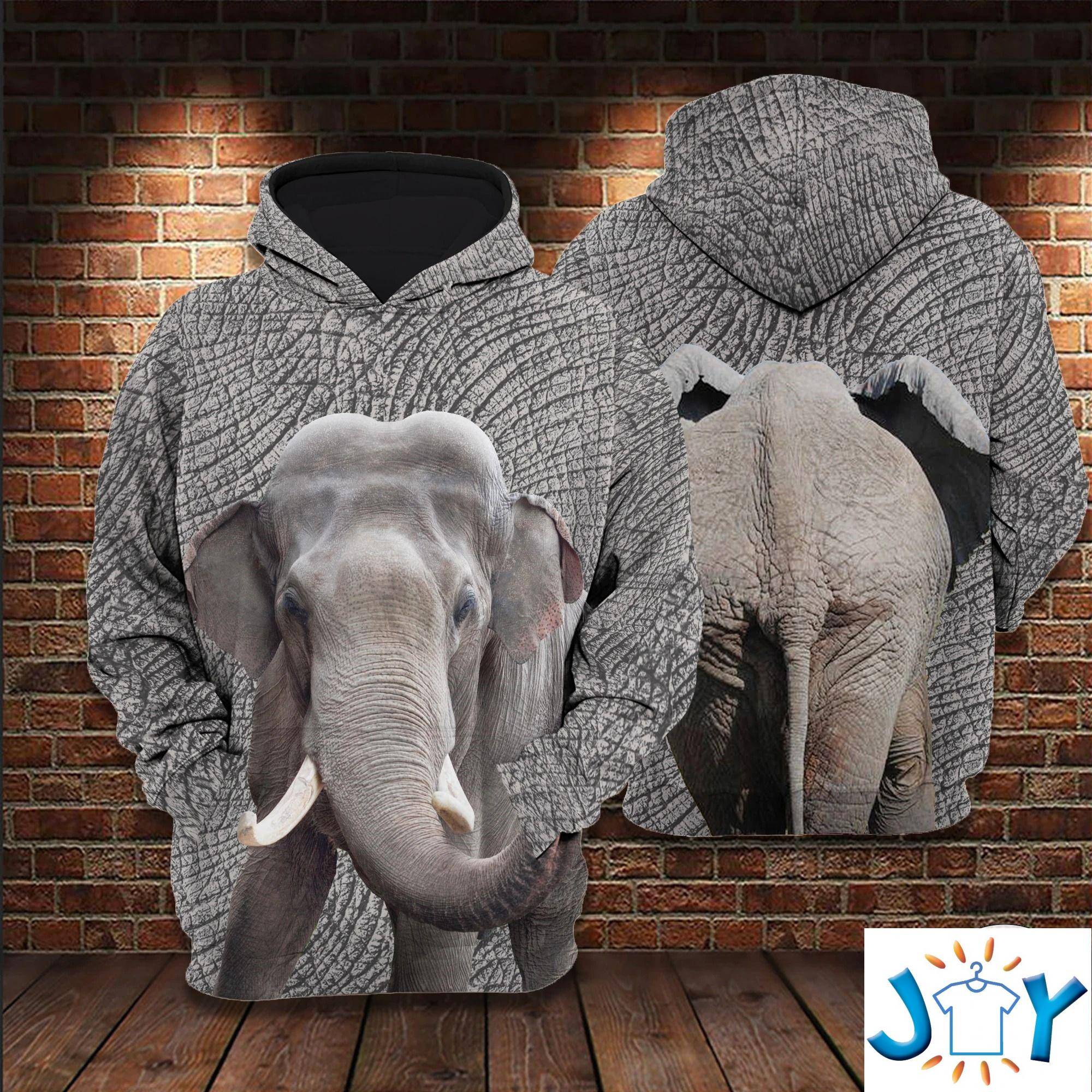 Elephant 3D All Over Print Hoodie