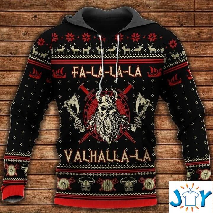 Fa-La-La-La-La Valhalla-La Viking 3D Christmas Hoodie