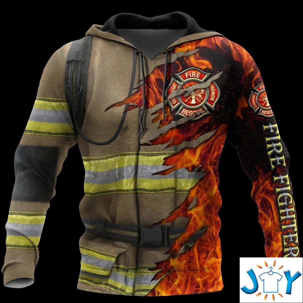 Firefighter 3D All Over Printed Hoodie
