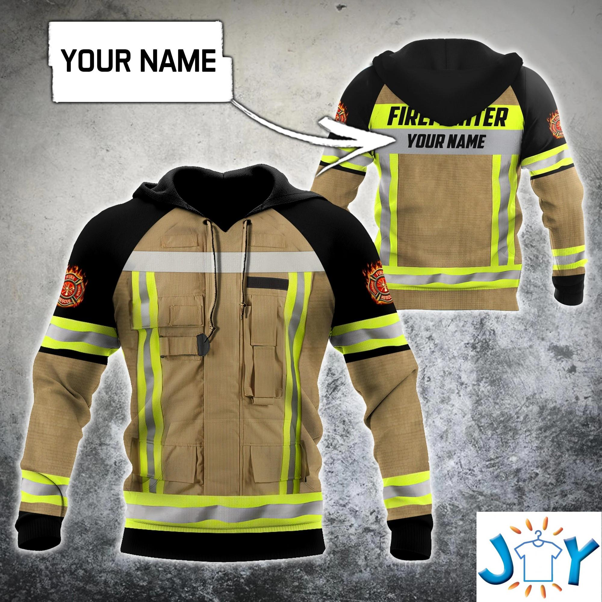 Firefighter Costume Personalized 3D All Printed Hoodie