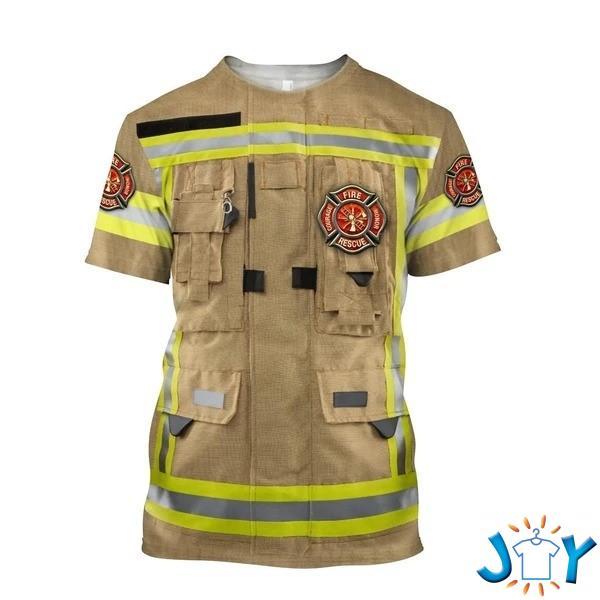 Firefighter Turnout Gear 3D Hoodie, Sweatshirt, T-Shirt