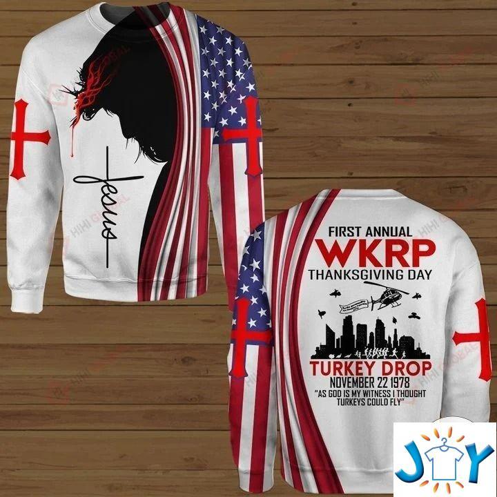 First Annual Wkrp Thanksgiving Day Turkey Drop 3D Hoodies, Sweatshirt, Hawaiian Shirt