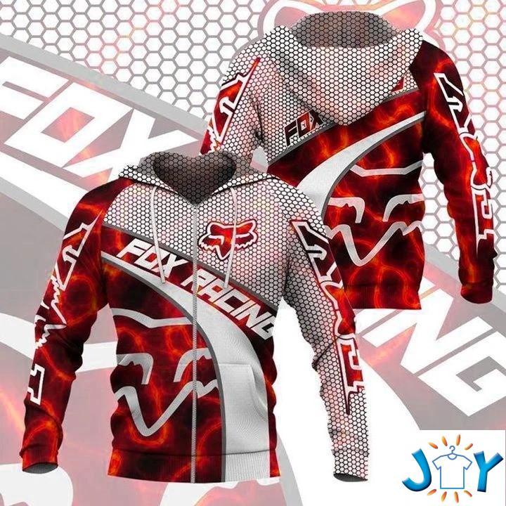 Fox Racing Red 3D Hoodie