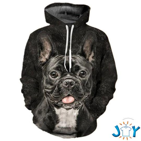 French Bulldog Grey 3D All Over Print Hoodie