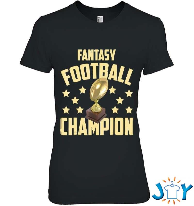 Funny Fantasy Football Champion Draft Party T-Shirt