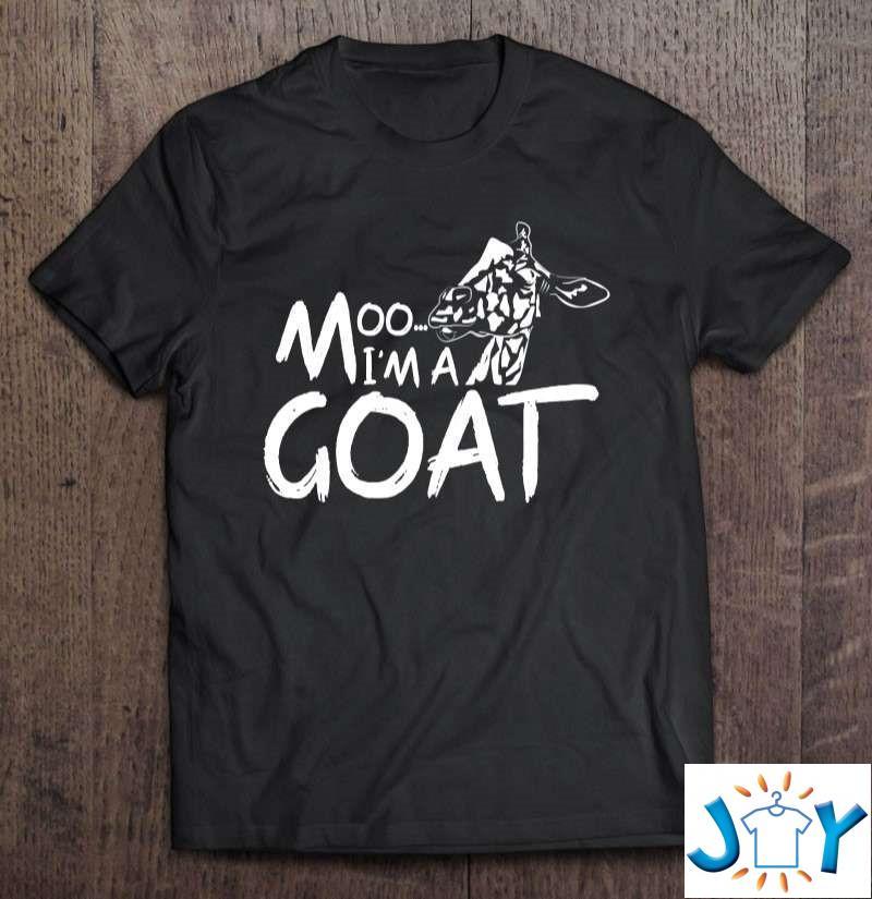 Funny Giraffe – Moo Im A Goat T-Shirt