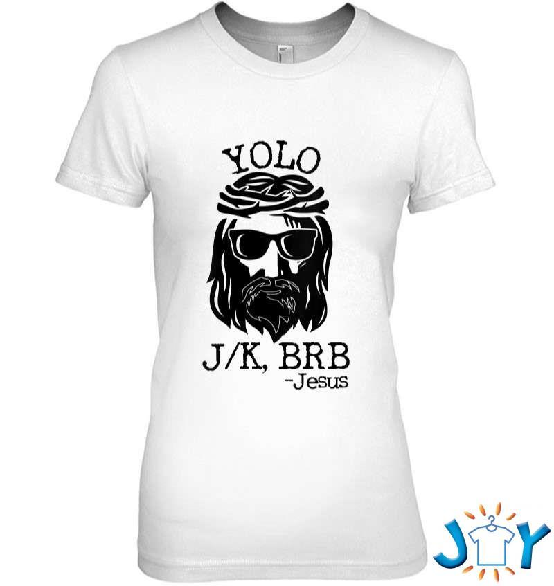 Funny Jesus Easter Yolo Jk Brb Texting V-Neck T-Shirt