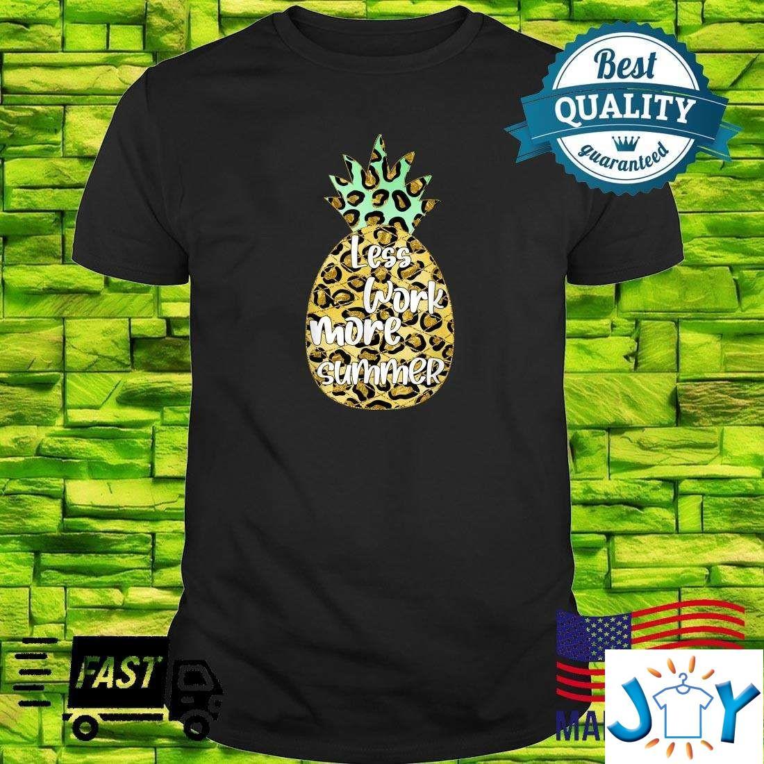 Funny Pineapple Hawaiian Tropical Fruit Plussize Shirt