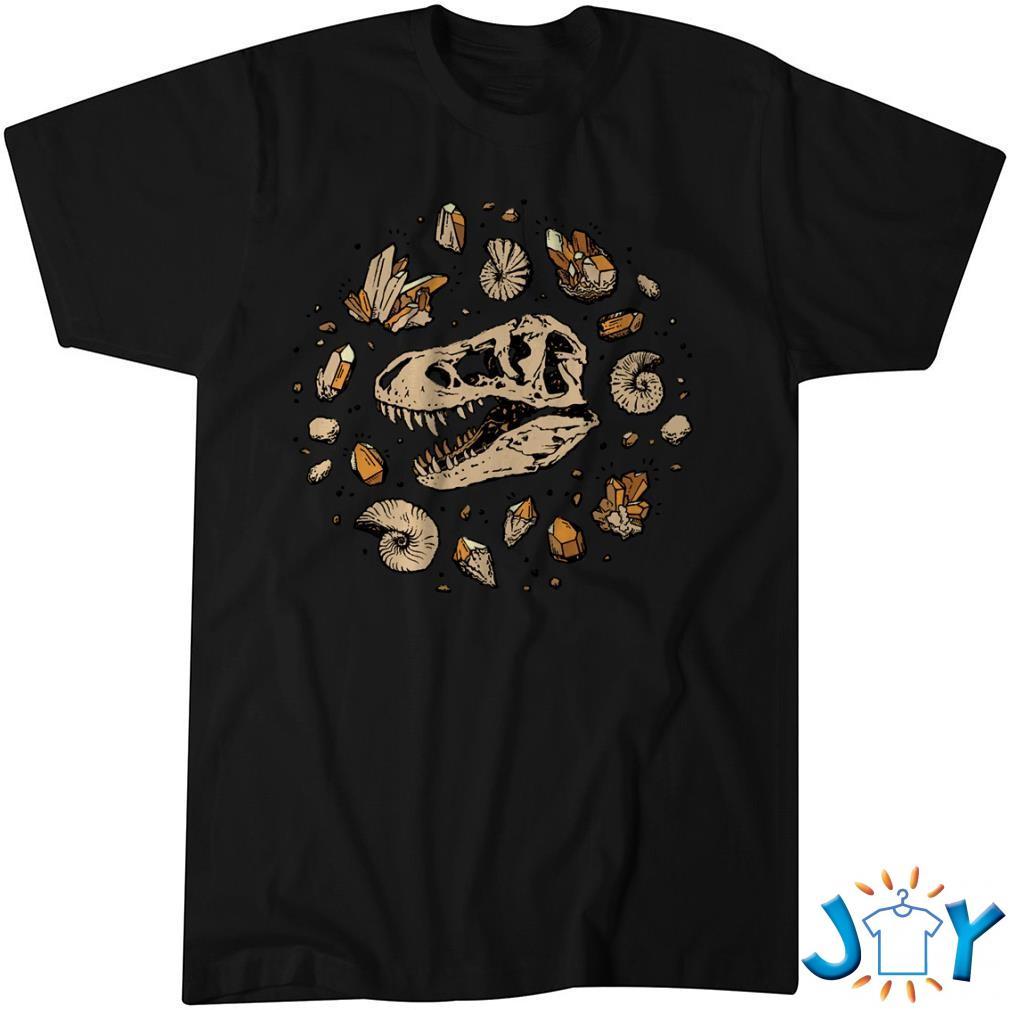Geo-Rex Vortex Citrine Quartz Dinosaur Fossil Art Classic Shirt