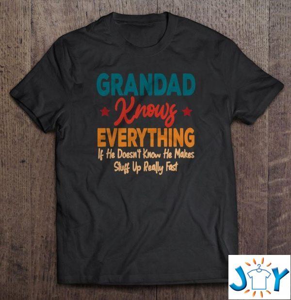 grandad knows everything grandson grandparents day shirt M