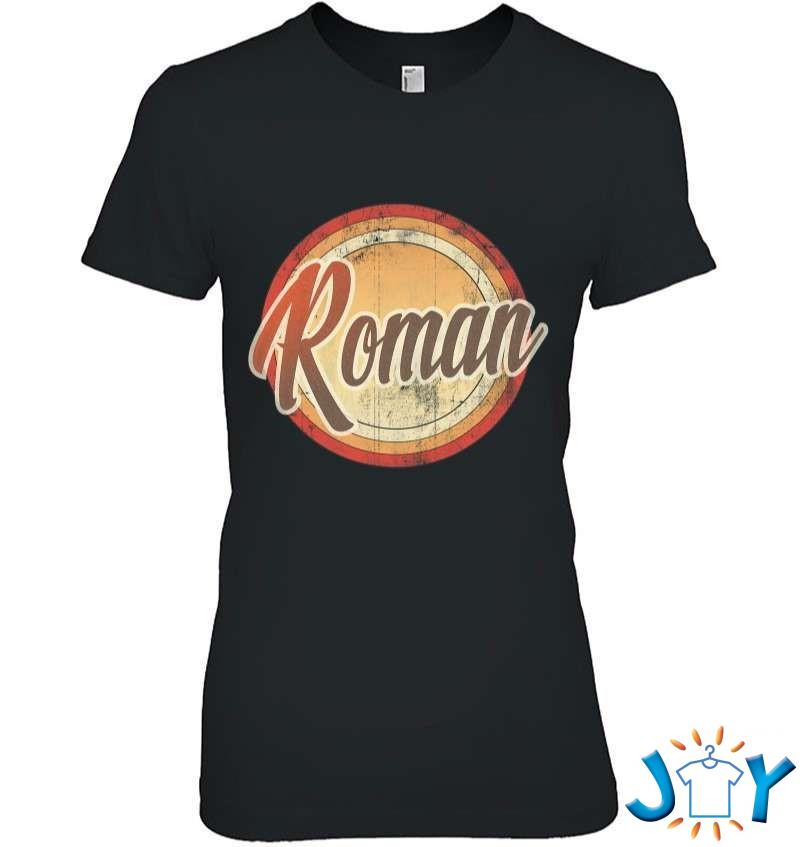 Graphic 365 Name Roman Vintage Funny Personalized Gift T-Shirt