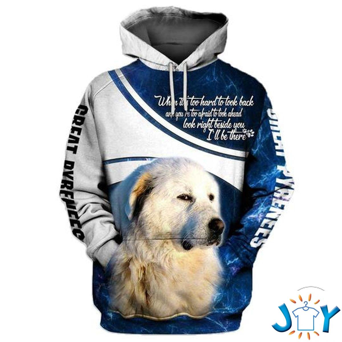 Great Pyrenees The Devil Whispered In My Ear You´Re Not Strong Enough To Withstand The Storm 3D Hoodie