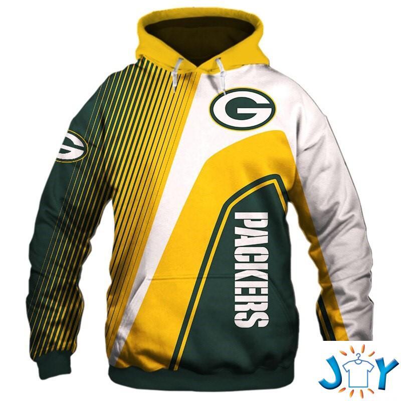 Green Bay Packers Stripes 3D Hoodie