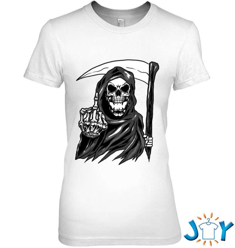 Grim Reaper Angel Of Death Cool Scythe Dead Mower Gift Idea T-Shirt