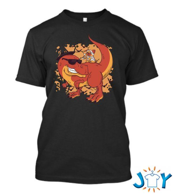 halloween pug and dinosaur t shirt