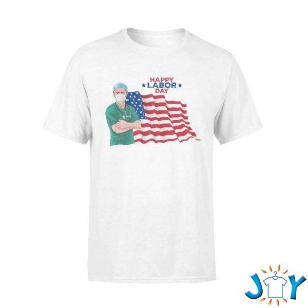 happy labor day  american doctor t shirt M