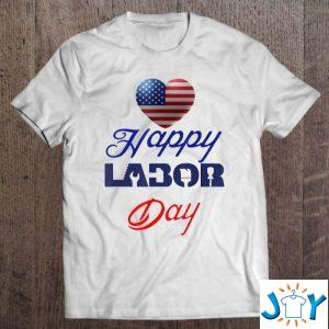 happy labor day white t shirt M