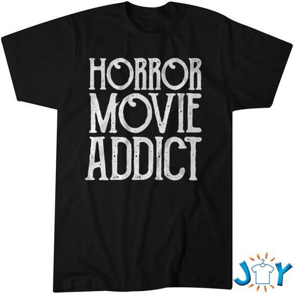 horror movie addict pumpkin shirt M