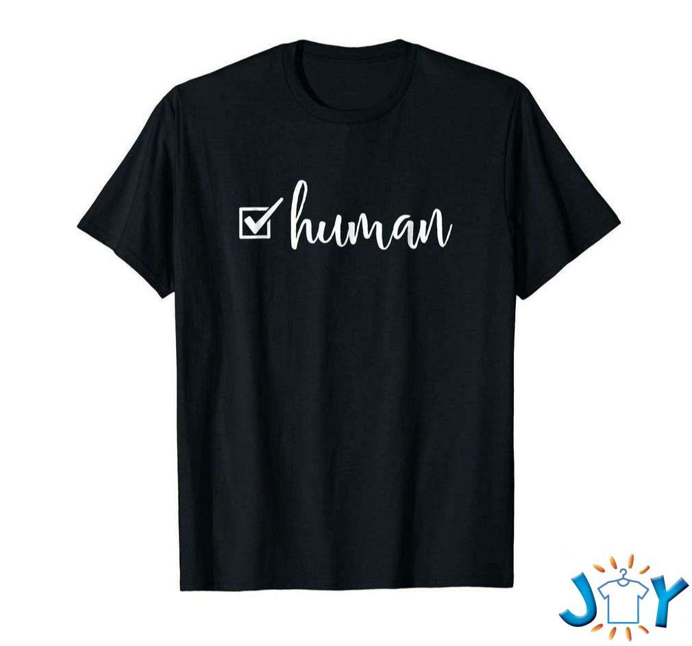 Human Checkmark Mens Womens Motivational Novelty Unisex T-Shirt
