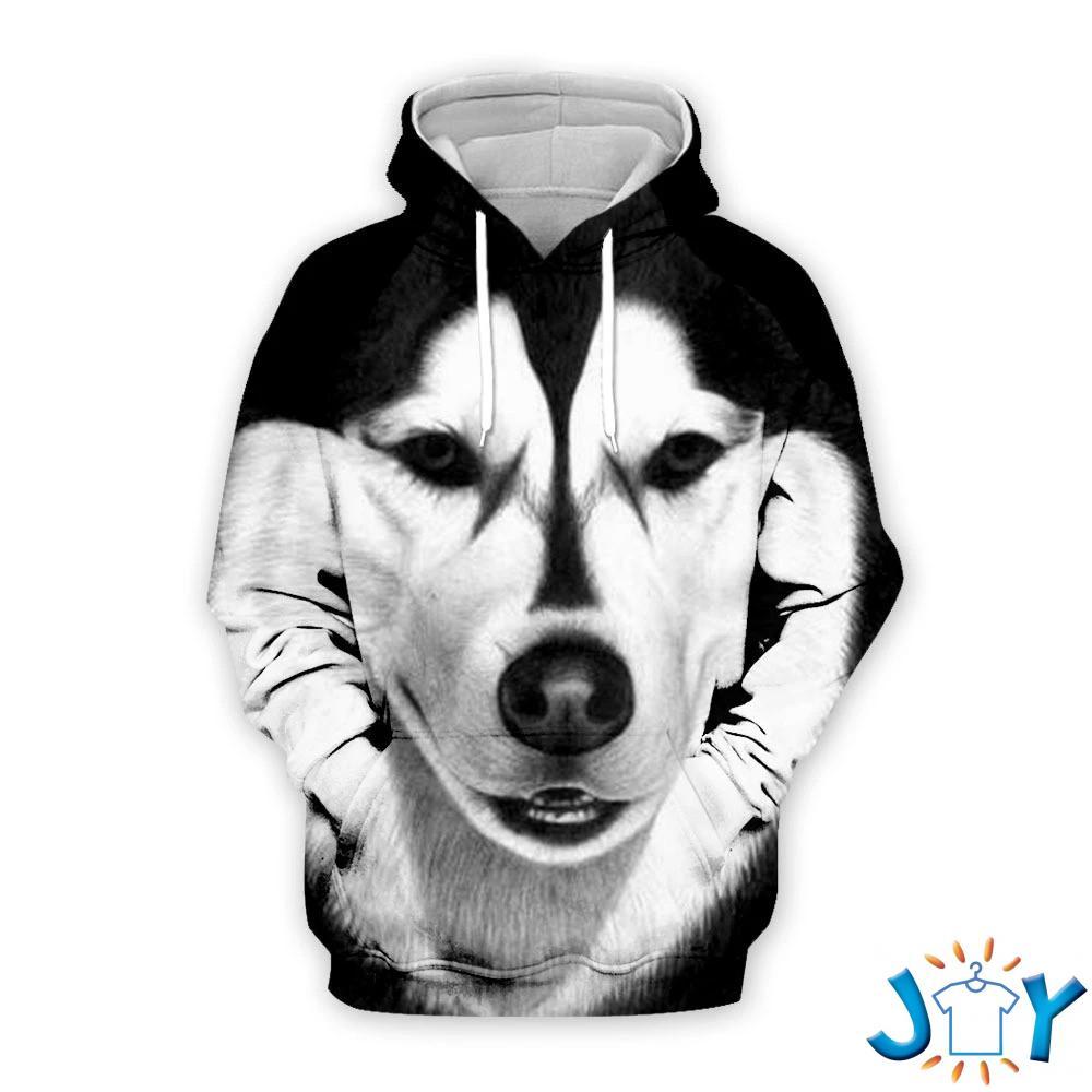Husky Dog 3D All Over Printed Hoodie