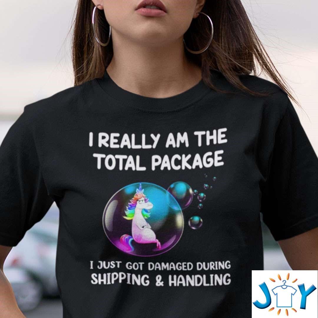 I Just Got Damaged During Shipping Handling Unicorn T-Shirt