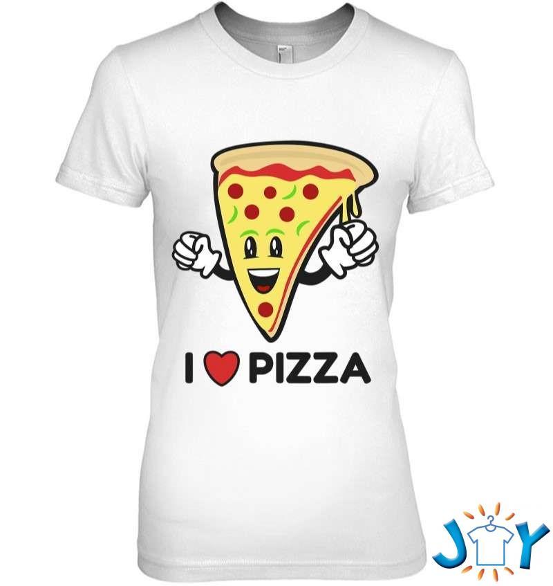 I Love Pizza I Heart Cartoon Character Pepperoni Fun T-Shirt