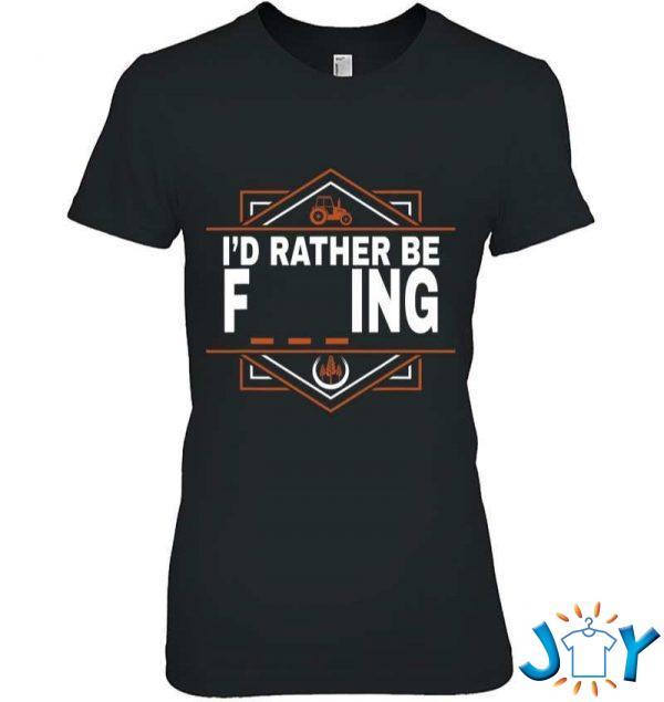 id rather be farming farmer tractor apparel item t shirt M