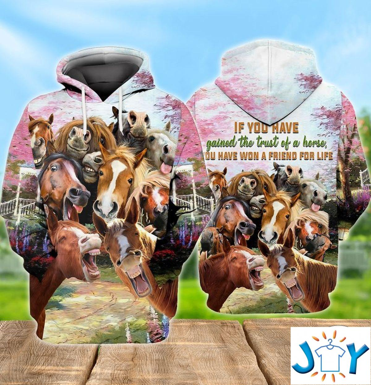 If You Have Gained The Trust Of A Horse You Have Won A Friend For Life 3D Hoodie